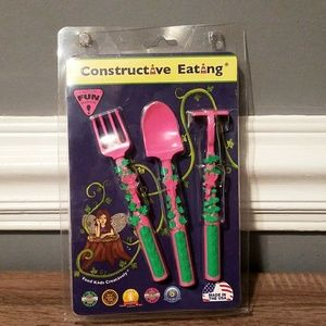 Other - NEW Garden Fairies Constructive Eating Utensils